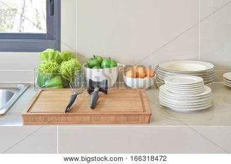 Pantry With Kitchenware And Utensil In Modern Kitchen
