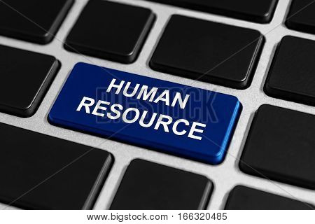 human resource button on keyboard business concept