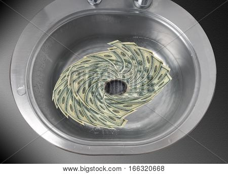 Flushing money down the drain as a concept