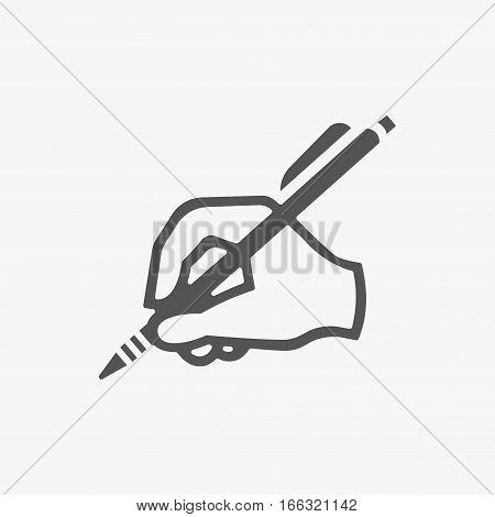 hand writing icon stock vector illustration flat design