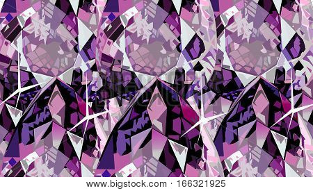 Brilliant diamond pink geometric texture structure vector  background.