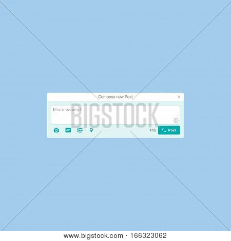 Web application and Icon for social network. Notification icons Flat vector illustration EPS 10.