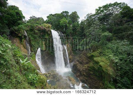 Pulhapanzak waterfall in Honduras a popular tourist destination
