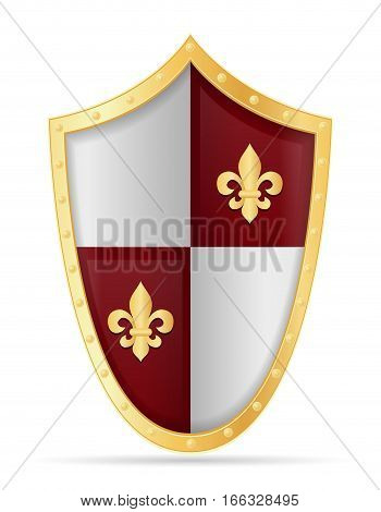 battle shield medieval stock vector illustration isolated on white background