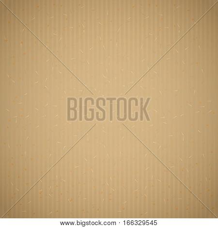 Brown recycled corrugated paper texture background. Cardboard with paper fibres, wrapping paper or packaging box texture. Vector illustration stock vector