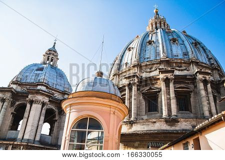 Cupola Of St. Peter's Basilica. Vatican City