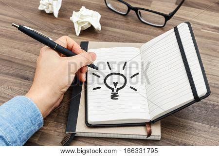 Writing Idea Concept