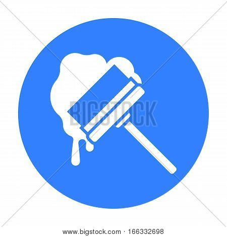 Squeegee blue icon. Illustration for web and mobile.