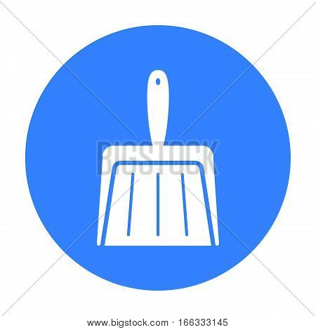Dustpan blue icon. Illustration for web and mobile.