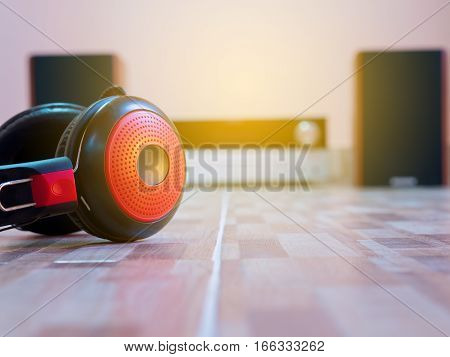 Headphones Lying On The Floor, With Audio.