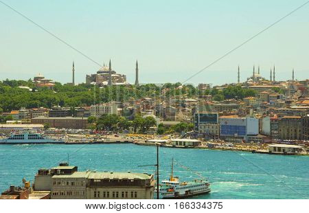 Hagia Sophia and Blue Mosque Istanbul's sights.