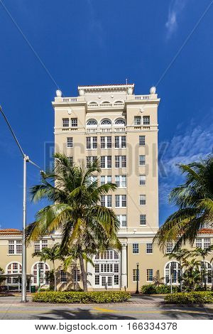 Vintage Miami Beach City Hall In Art Deco Style