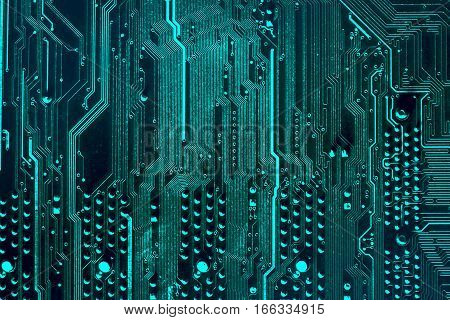 Close Up Of A Printed Computer Circuit Board. Vertical Stripes.