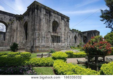MAy 22 2016 Cartago Costa Rica: the Santiago Apostol Parish ruins are in fact an unfinished building damaged by an earthquake
