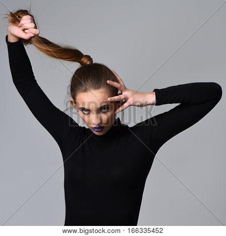 Pretty Girl In Black Clothes
