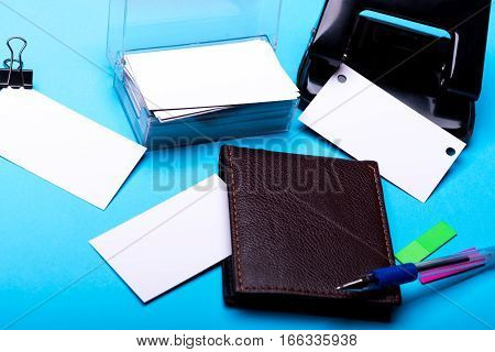 Stationery For Office: Hole Puncher, Blanks, Clip, Wallet, Pen, Stickers