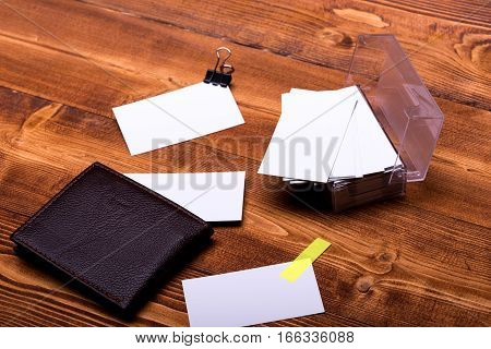 Stationery For Office: Box With Blanks, Wallet, Binder Clip, Sticker