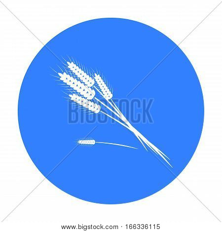 Bundle of wheat icon in blue  style vector illustration.
