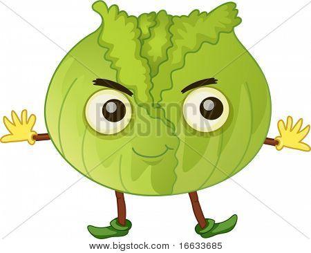 illustration of vegetable on white poster