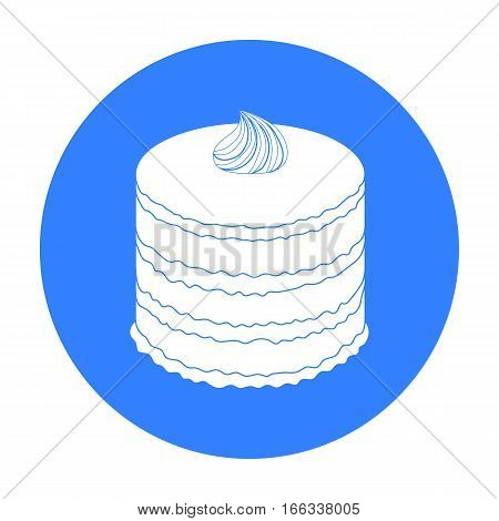 Purple cake icon in  design isolated on white background. Cakes symbol stock vector illustration.