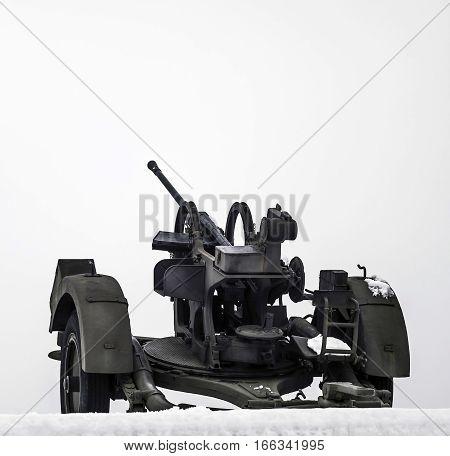 German anti aircraft gun M38 PLT from world war.