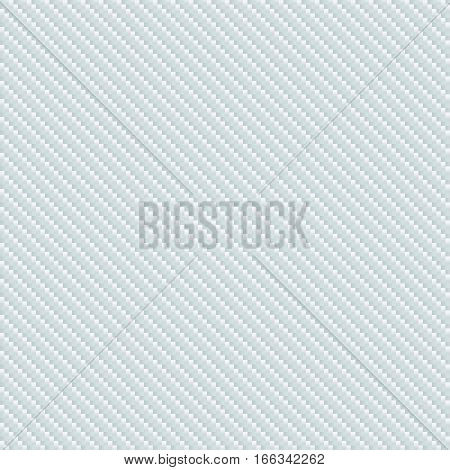 White carbon fiber seamless pattern. Vector carbon fiber vector background texture. Technology stripes.