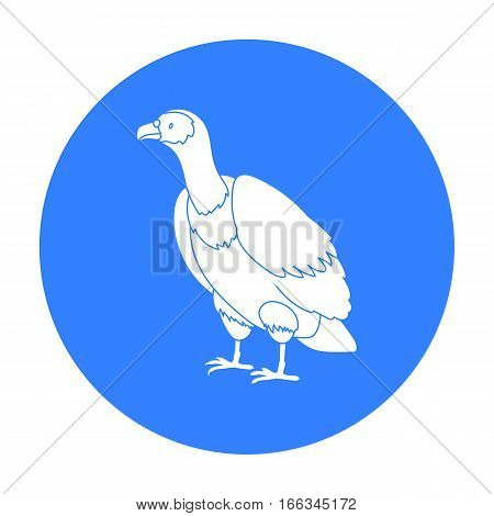 Vulture icon in blue style isolated on white background. Bird symbol vector illustration.