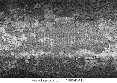 Rusty metal texture or rusty metal background. Grunge retro vintage of rusty metal plate for design with copy space for text or image. Black and white