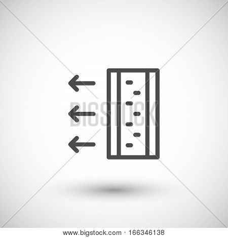 Insulation scheme line icon isolated on grey. Vector illustration