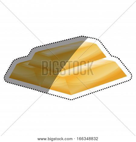 Gold bars isolated icon vector illustration graphic design