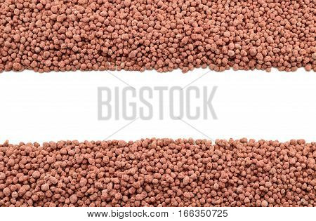 Composite mineral fertilizers on the white background