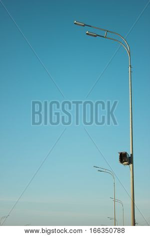 Camera Of Violation Of Traffic Regulations.