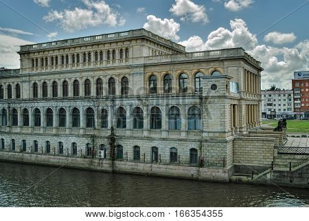 Kaliningrad, Russia - July 1, 2010: Koenigsberg Exchange. Now the regional center of youth culture, the architectural style of Neo-Renaissance