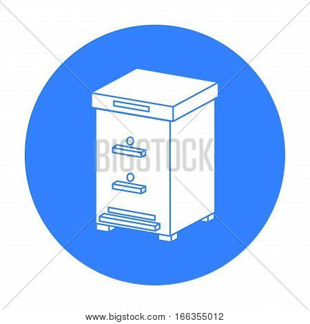 Beehive icon in blue style isolated on white background. Apiary symbol vector illustration