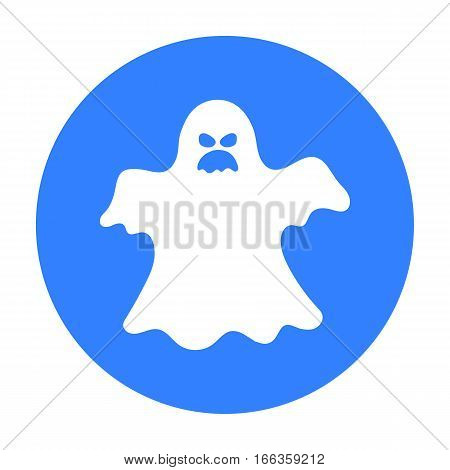 Ghost icon in blue style isolated on white background.