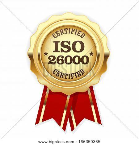 ISO 26000 standard rosette - social responsibility