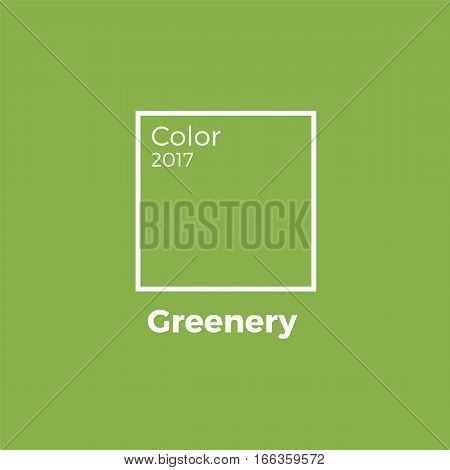 greenery 2017 trandy color swatche vector template