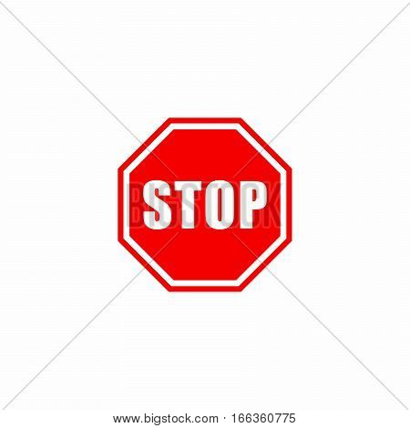 Stop sign icon vector design isolated on white background