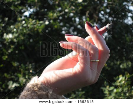 The Female Hand Of Cigarette