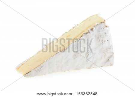 Brie cheese isolated on a white background