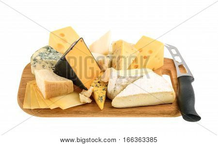 Various Types Of Cheese Isolated On White. Without Shadow