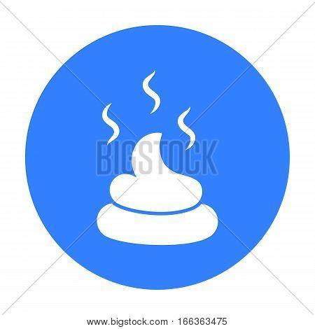 Faeces vector illustration icon in blue design