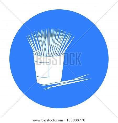 Toothpicks icon in blue style isolated on white background. Dental care symbol vector illustration.