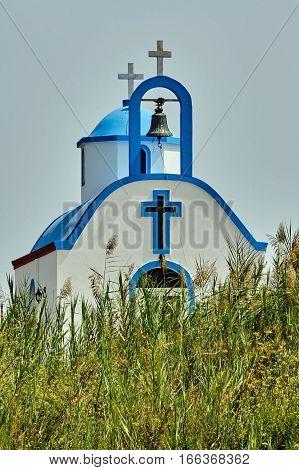 Belfry Orthodox chapel on the island of Kos in Greece