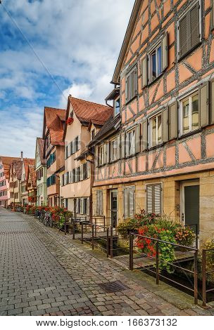 Street in Tubingen with historical houses Germany
