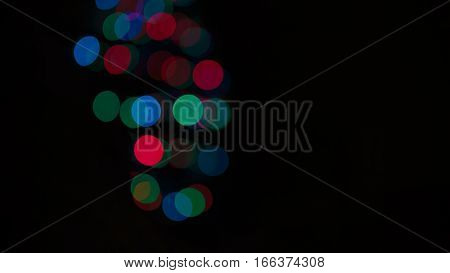 Multicolored abstract bokeh. Abstract Christmas vibrant background
