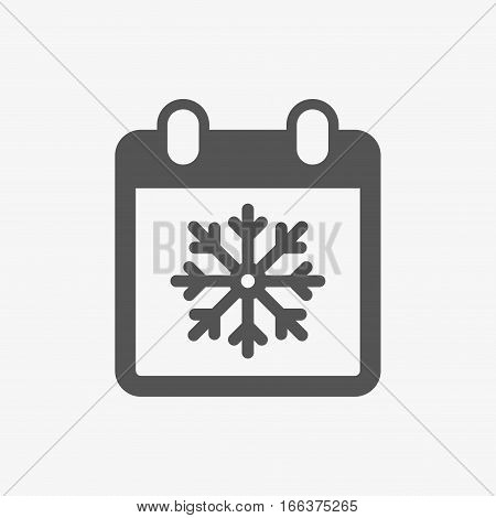 winter calendar icon stock vector illustration flat design