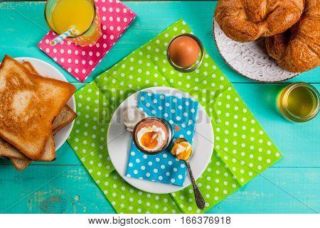 Summer Or Spring Continental Breakfast