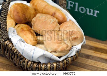 Basket Of Baked Goods