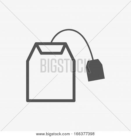 tea bag icon stock vector illustration flat design